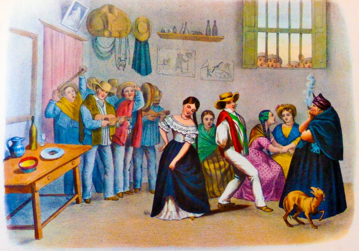 Álbum de cuadro de costumbres. París, A. De la Rue, 1860. Colección Banco de la República.